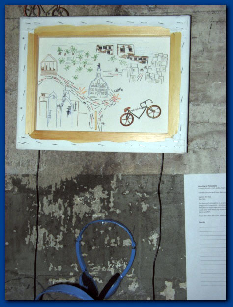 Bicycling In Philadelphia - Multimedia piece by Steve Bozzone and Colleen Catherine Connolly 2007