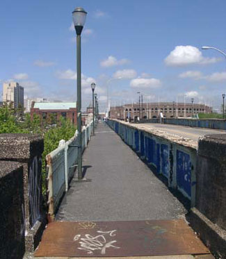 The existing bridge is a mess, but it's built with pedestrians in mind.  How about bikes?
